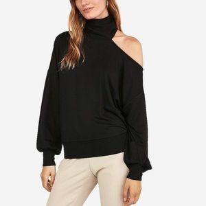 Express one eleven slit cold shoulder sweatshirt